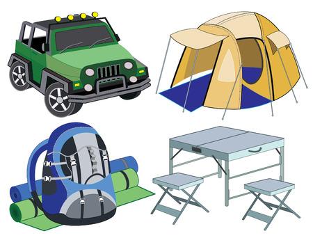sport mats: set of travel icons
