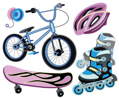 yoyo: Icons for extreme skiing Illustration
