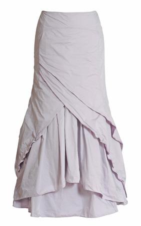long skirt: long skirt isolated on white Stock Photo