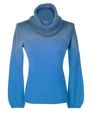 blue sweater isolated on white
