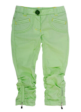 breeches: green breeches isolated on white