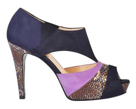 high heeled: fashion shoes isolated on white Stock Photo