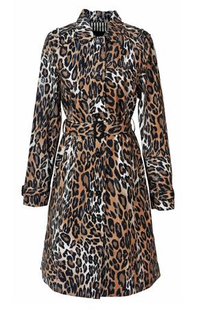 leopard coat isolated on white photo