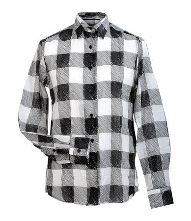 checkered shirt isolated on white photo