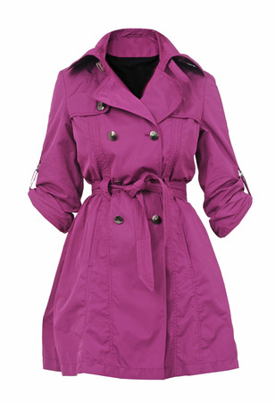 crimson: crimson coat isolated on white Stock Photo
