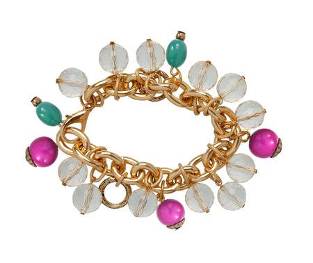 fashion bracelet isolated on white photo