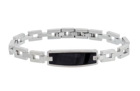 male bracelet isolated on white photo