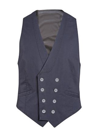 waistcoat: gray waistcoat isolated on white background Stock Photo