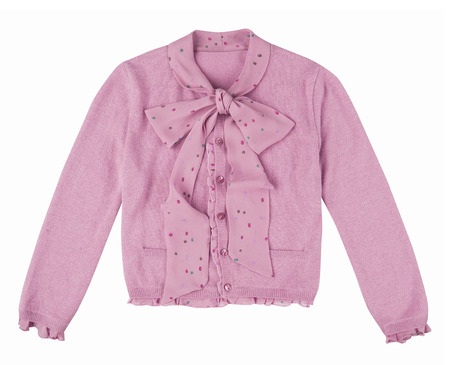 pink blouse isolated on white background photo