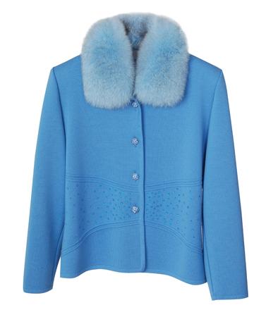 jabot: blue jacket isolated on white background