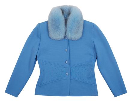 blue jacket isolated on white background photo