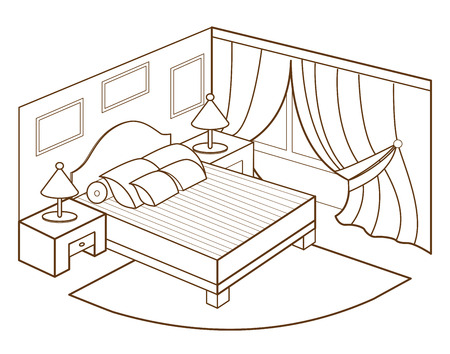 outlines: modern bedroom interior