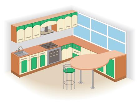 modern kitchen interior: modern kitchen interior