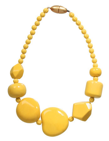 necklace: yellow necklace isolated on white