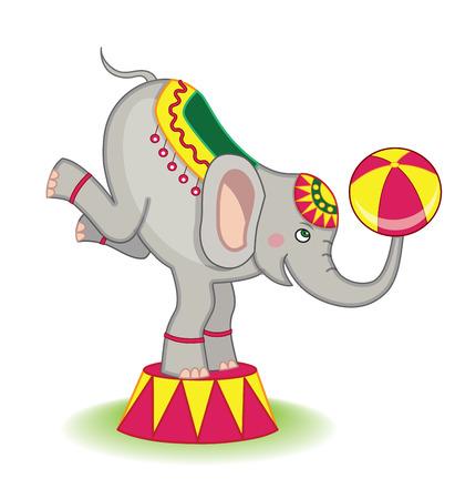 acrobat: circus elephant Illustration
