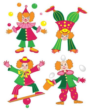 circus clown (vector illustration) Vector