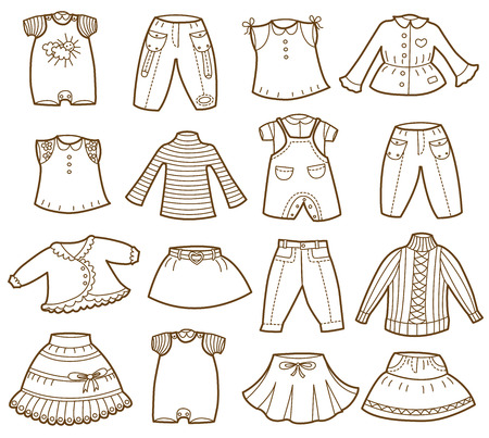 collection of children clothes