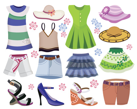 miniskirt: collection of women clothes