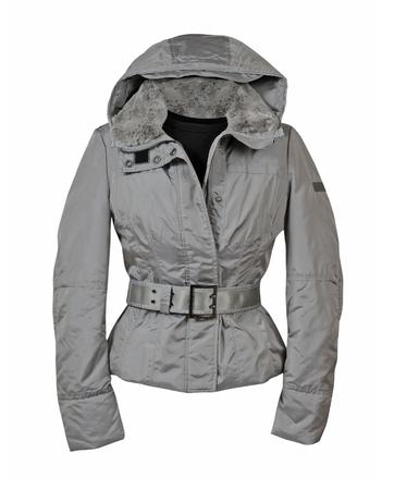 winter jacket: fashion winter jacket  isolated on white background Stock Photo