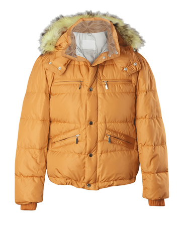 jupe: yellow jacket isolated on white Stock Photo