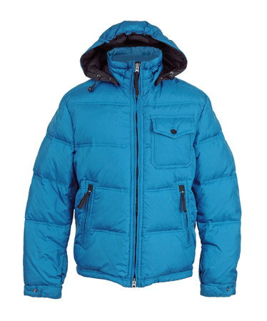 jupe: fashion winter jacket  isolated on white background Stock Photo