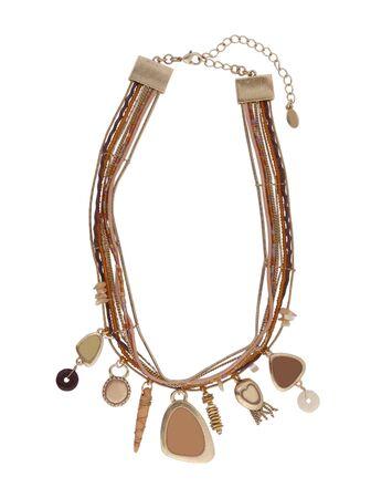 pedant: fashion necklace isolated on white background Stock Photo