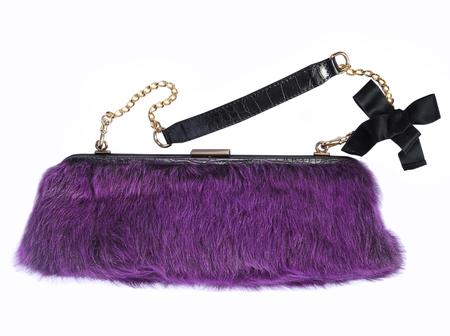 vanity bag: fashionable handbag isolated on white background Stock Photo