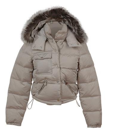 jupe: fashion winter gray jacket isolated on white background
