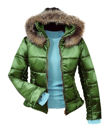 jupe: green jacket Stock Photo