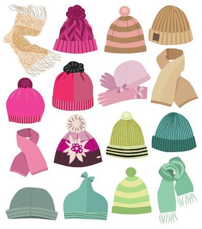 Collection de casquettes de mode (illustration vectorielle)