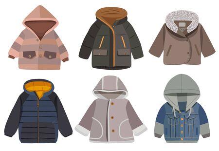 Collection de veste d'hiver pour enfants