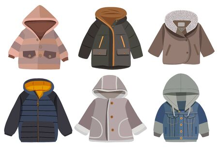 Collection of winter children's jacket