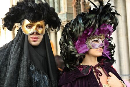 incognito: Masks at the Venice carnival Stock Photo