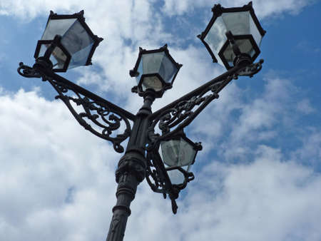 Old street lantern, candelabra Standard-Bild
