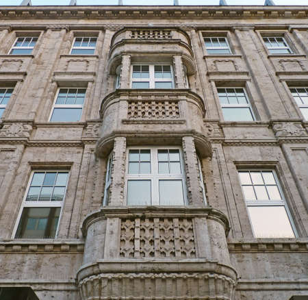 Facade of a residential- and office building in Cologne Standard-Bild