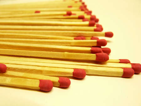 Matchsticks with red head Stock Photo - 21853337