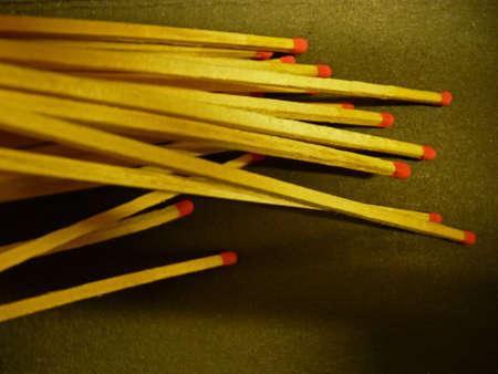 Matchsticks mit rotem Kopf Lizenzfreie Bilder