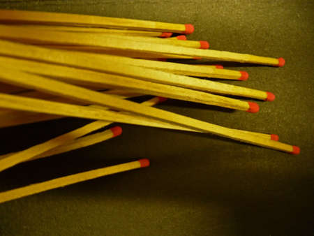 fireplace lighter: Matchsticks with red head Stock Photo