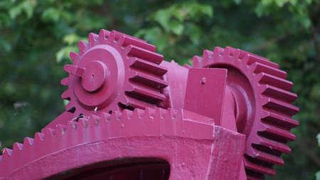 Gears of a turbine Standard-Bild