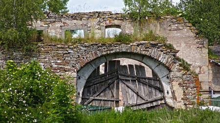 Old crumbling gate, ruins