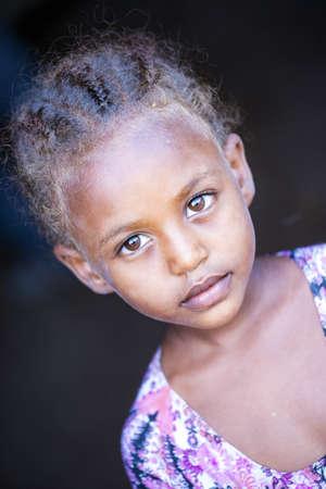 2 november: Ethiopia, 2  November  2015, Tribal Afar girl, traditional living in Ethiopia.