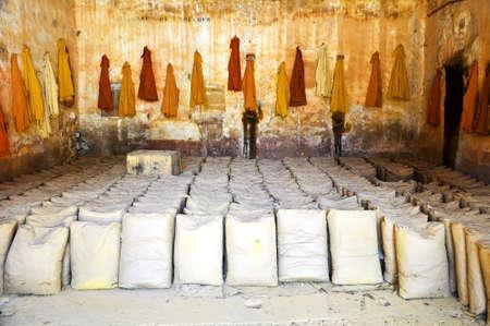 luberon: Bags of ochre in the Luberon Stock Photo