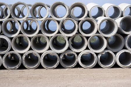 cement water pipes photo