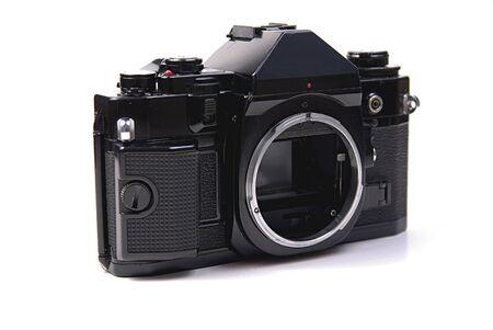 35mm classic slr camera on white