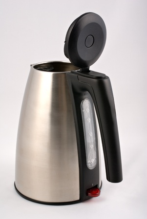 steinless steal electrical kettle on white Stock Photo - 13468487