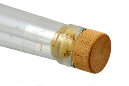 bottle with natural cork isolaten on white