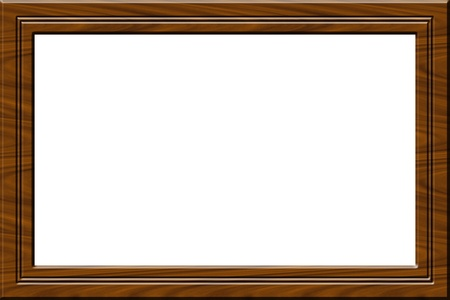 wooden frame for paintings or pictures isolated on white Stock Photo