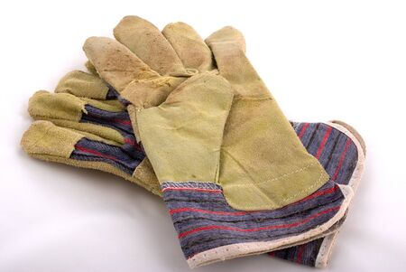 pair of leather working gloves