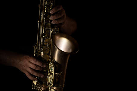 Man playing saxophone Banque d'images