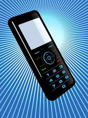 Vector illustration of a cell phone